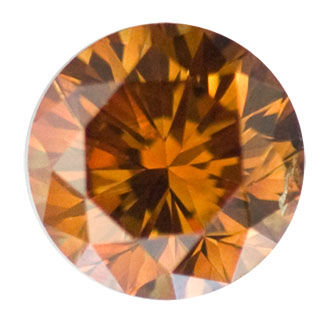 Fancy Deep Brownish Yellowish Orange Diamond, Round, 1.25 carat, SI2