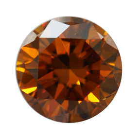 Fancy Deep Brownish Yellowish Orange Diamond, Round, 0.55 carat, SI2