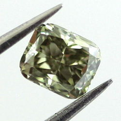Deep Grayish Yellowish Green Chameleon, 0.34ct