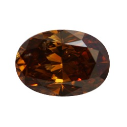 Fancy Deep Orange Brown Diamond, Oval, 1.02 carat