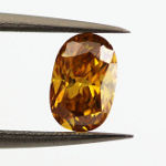Fancy Deep Orange Yellow, 0.71 carat