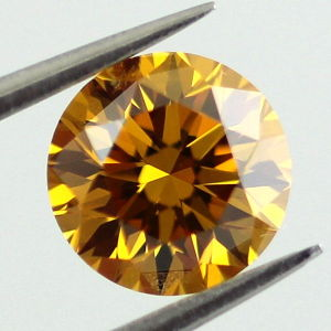 Fancy Deep Orange Yellow, 0.78 carat, SI1