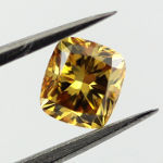 Fancy Deep Orange Yellow, 0.53 carat, SI1