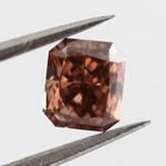 Fancy Deep Orangy Pink, 0.52 carat, SI1
