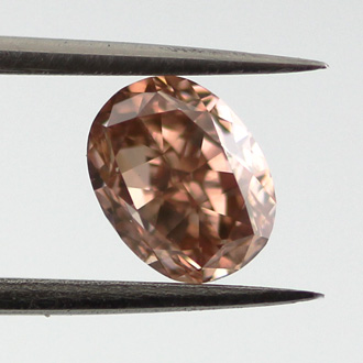 Fancy Deep Orangy Pink, 0.75 carat, VS1