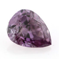 Fancy Deep Pink Purple Diamond, Pear, 0.15 carat - Thumbnail