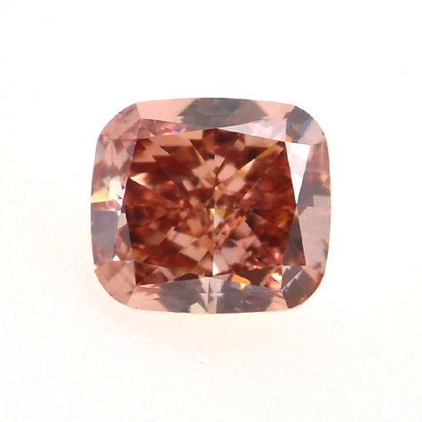 Fancy Deep Pink Diamond, Cushion, 0.26 carat, VS1