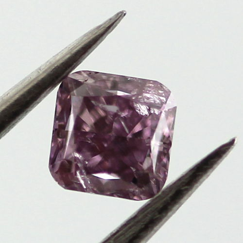 Fancy Deep Purple Pink Diamond, Cushion, 0.20 carat