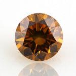 Fancy Deep Yellow Orange, 0.61 carat, SI2