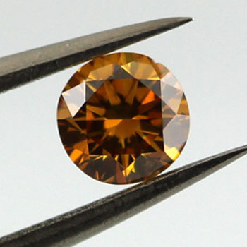 Fancy Deep Yellow Orange, 0.33 carat, SI2