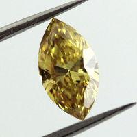 Fancy Deep Yellow Diamond, Marquise, 1.05 carat - Thumbnail