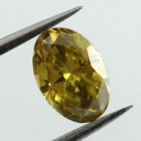 Fancy Deep Yellow Diamond, Oval, 0.62 carat - Thumbnail