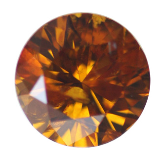 Fancy Deep Yellowish Orange Diamond, Round, 1.04 carat