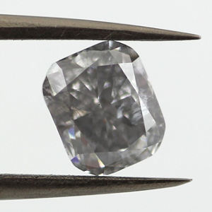 Fancy Gray Blue, 1.42 carat