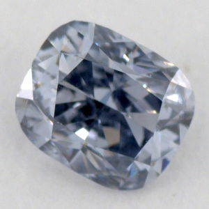 Fancy Gray Blue, 0.17 carat, SI1