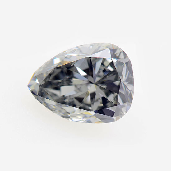 Fancy Gray Blue Diamond, Pear, 0.99 carat, SI1