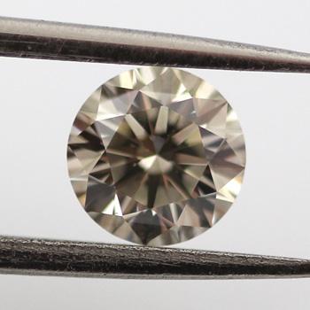 Fancy Gray Diamond, Round, 0.52 carat