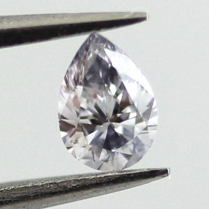 Fancy Grayish Blue Diamond, Pear, 0.11 carat - Thumbnail