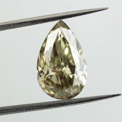 Fancy Grayish Greenish Yellow, 3.01 carat, SI2