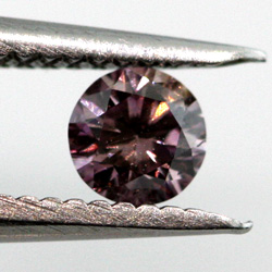 Fancy Grayish Pink Purple, 0.10 carat