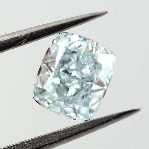 Fancy Green Blue Diamond, Cushion, 0.50 carat, VS1