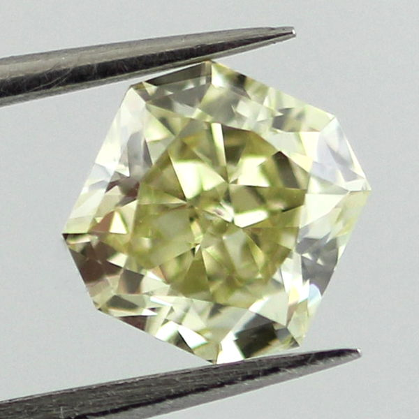 Fancy Green-Yellow Diamond, Radiant, 1.15 carat, SI1
