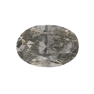 Fancy Greenish Yellow-Gray, 0.64ct, SI1