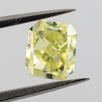 GIA Radiant Fancy Greenish Yellow Diamond, 0.81 carat
