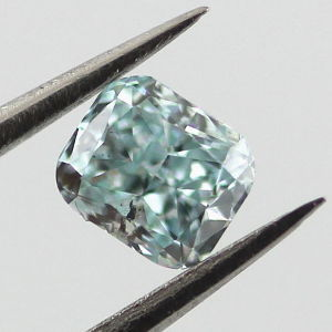 Fancy Intense Blue Green, 0.30 carat, SI2