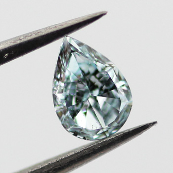 Fancy Intense Green Blue Diamond, Pear, 0.22 carat, SI2 - B
