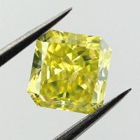 Fancy Intense Greenish Yellow, 0.84ct, VS1