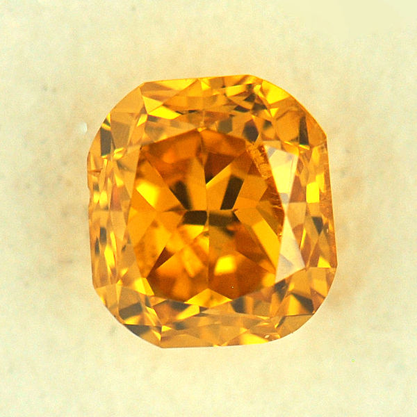 Yellow Diamond Fancy Intense Orange Yellow 0 43 Carat
