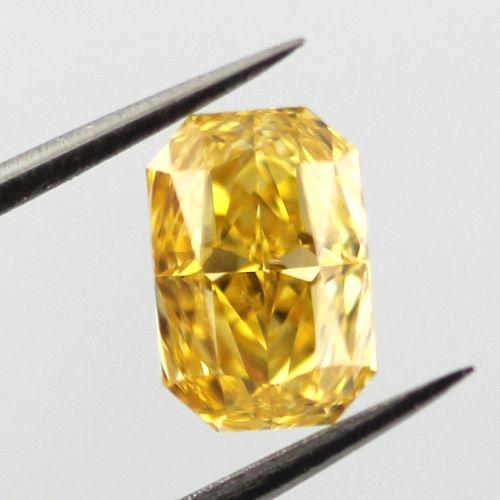 Fancy Intense Orange Yellow Diamond, Radiant, 0.95 carat, SI1