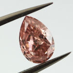 Fancy Intense Orangy Pink, 0.89 carat, SI2