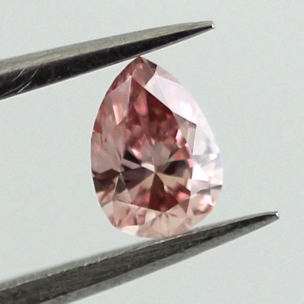 Fancy Intense Orangy Pink Diamond, Pear, 0.21 carat, VS2