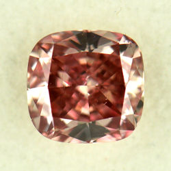 Fancy Intense Orangy Pink, 0.62 carat, VS2