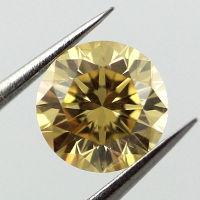 Fancy Intense Orangy Yellow, 0.56 carat