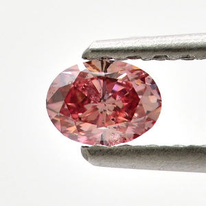 GIA Oval Fancy Intense Pink Argyle Diamond, 0.26 carat