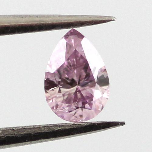 Fancy Intense Pink Purple Diamond, Pear, 0.14 carat