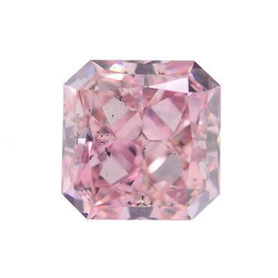 Fancy Intense Pink Diamond, Radiant, 0.29 carat, SI2