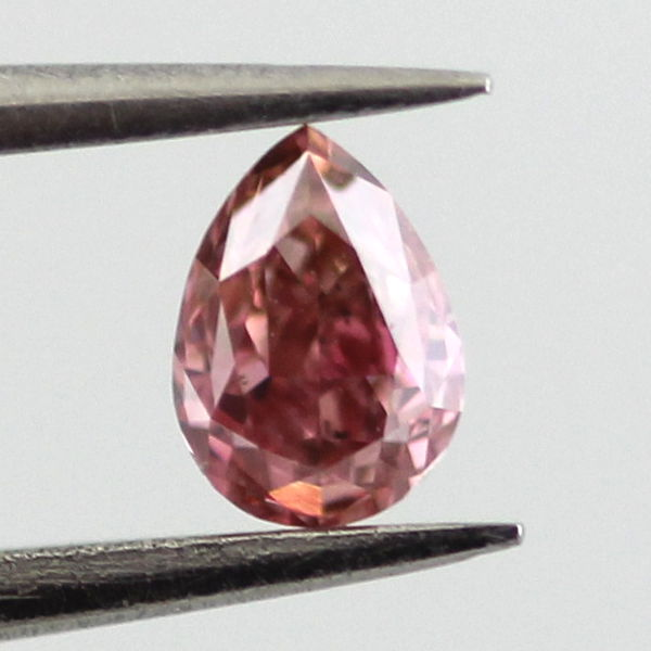 Fancy Intense Pink Diamond, Pear, 0.21 carat