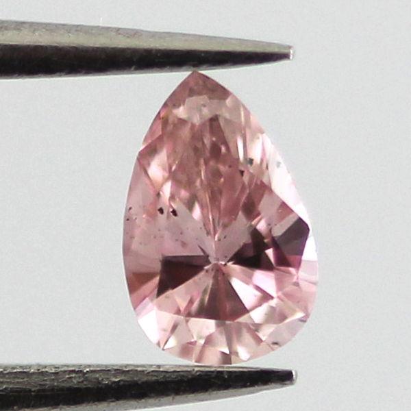 Fancy Intense Pink Diamond, Pear, 0.12 carat