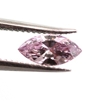 Fancy Intense Purple Pink, 0.18 carat, SI2
