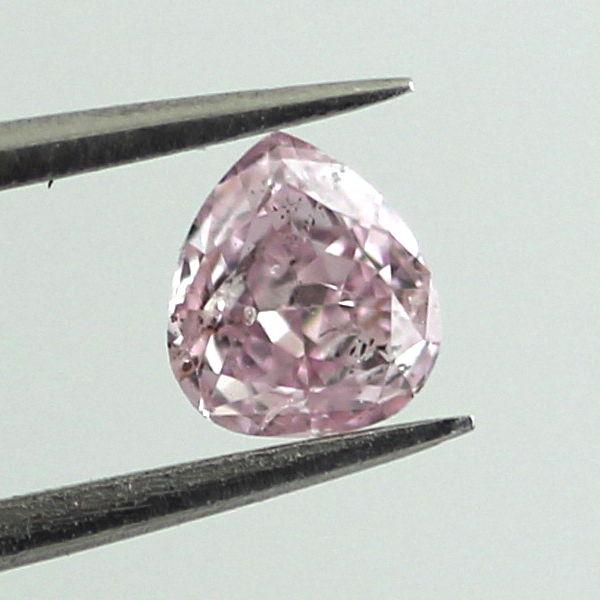 Fancy Intense Purple Pink Diamond, Pear, 0.24 carat