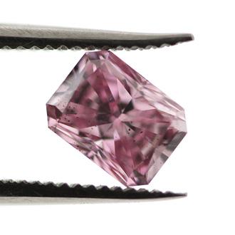 Fancy Intense Purplish Pink Argyle Diamond, Radiant, 0.46 carat, SI2
