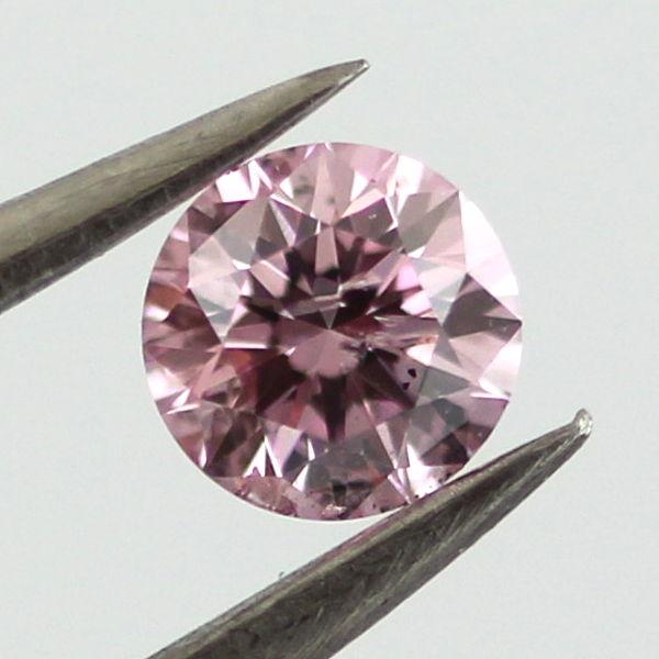 Fancy Intense Purplish Pink Argyle Diamond, Round, 0.19 carat, SI2