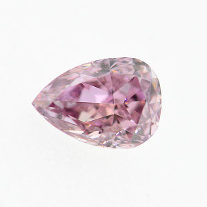 GIA Pear Fancy Intense Purplish Pink Diamond, 0.26 carat