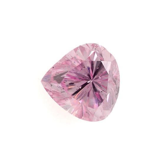 Fancy Intense Purplish Pink Diamond, Heart, 0.15 carat, I1