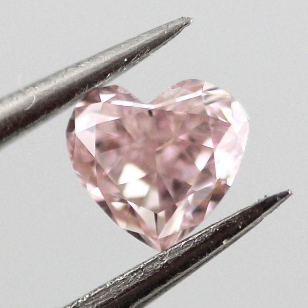 Fancy Intense Purplish Pink Diamond, Heart, 0.17 carat, VS2