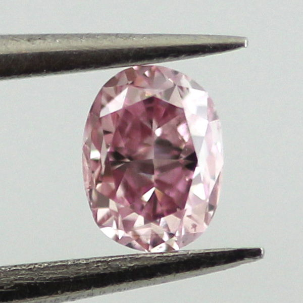 Fancy Intense Purplish Pink Diamond, Oval, 0.14 carat